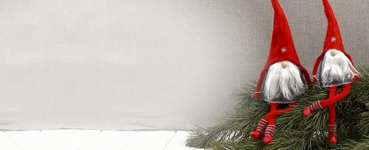Homemade elves and Santas
