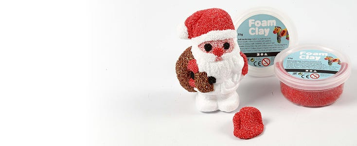 Christmas decorations with Foam Clay and Silk Clay