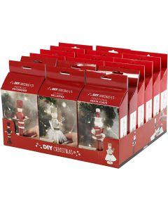 Nutcracker, Santa Claus and ballerina, 18 set/ 1 pack