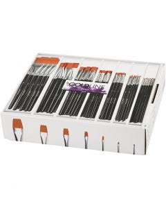 Gold Line Brushes, flat, no. 0+2+4+8+12+16+20, W: 2-24 mm, 84 pc/ 1 pack