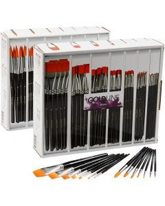 Gold Line Brushes, round + flat, no. 1-22, 168 pc/ 1 pack