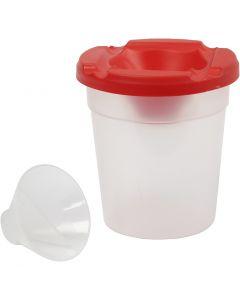 Non-Spill Paint Pot, H: 8,5 cm, D: 8 cm, 250 ml, 15 pc/ 1 pack