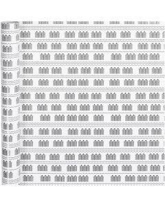 Gift wrap, bathhouse, W: 70 cm, 80 g, black, white, 4 m/ 1 roll