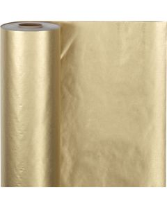 Wrapping Paper, W: 50 cm, 60 g, gold, 100 m/ 1 roll