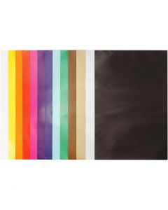 Glazed Paper, 24x32 cm, 80 g, assorted colours, 50 sheet/ 1 pack