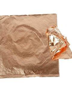 Imitation Metal Leaf, 16x16 cm, copper, 25 sheet/ 1 pack, 0,625 m2