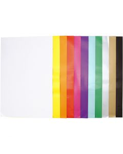 Glazed Paper, 32x48 cm, 80 g, assorted colours, 11x25 sheet/ 1 pack