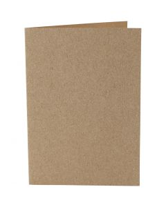 Cards, card size 10,5x15 cm, 220 g, natural, 10 pc/ 1 pack