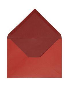 Envelope, envelope size 11,5x16 cm, 100 g, red/claret, 10 pc/ 1 pack