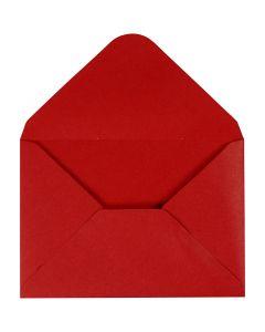 Envelope, envelope size 11,5x16 cm, 110 g, red, 10 pc/ 1 pack
