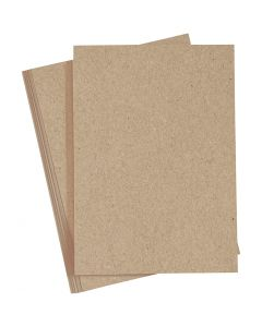 Card, A4, 210x297 mm, 220 g, natural, 10 pc/ 1 pack