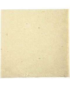 Handmade fabric paper, 20x20 cm, 70 g, off-white, 10 sheet/ 1 pack