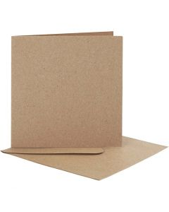 Blank Cards With Envelope, card size 12,5x12,5 cm, envelope size 13,5x13,5 cm, 10 set/ 1 pack