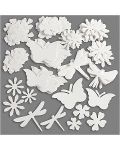 Summer Die Cut, size 4,5-12 cm, 240 g, white, 362 pc/ 1 pack