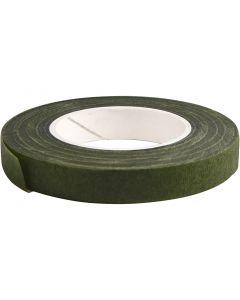 Floral Tape, W: 12 mm, dark green, 27 m/ 1 roll