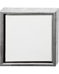 ArtistLine Canvas with frame, size 24x24 cm, 360 g, antique silver, white, 1 pc