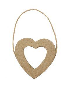 Heart Frame, H: 7,5 cm, W: 7 cm, 6 pc/ 1 pack