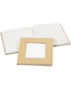 Notebook, size 14x14 cm, 60 g, brown, 1 pc