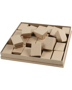 Boxes, H: 3,5 cm, size 5x7 cm, 24 pc/ 1 pack