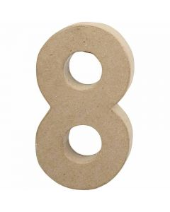 Number, 8, H: 20,2 cm, W: 11 cm, thickness 2,5 cm, 1 pc