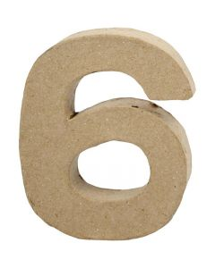 Number, 6, H: 10 cm, W: 8,2 cm, thickness 1,7 cm, 1 pc