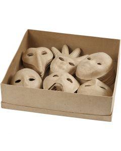 Masks, H: 12-21 cm, 6x10 pc/ 1 pack
