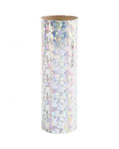 Deco Foil, W: 15,5 cm, thickness 0,02 mm, silver, 50 cm/ 1 roll