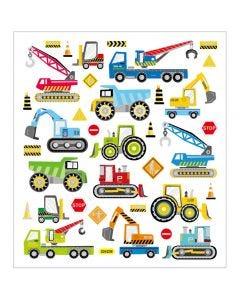 Stickers, build cars, 15x16,5 cm, 1 sheet