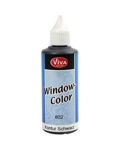 Viva Decor Window Color - Contour, black, 80 ml/ 1 bottle