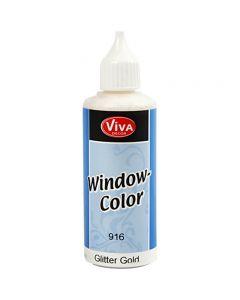 Viva Decor Window Color, gold glitter, 80 ml/ 1 bottle