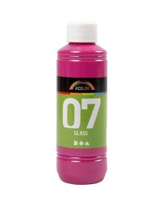A-Color Glass Paint, pink, 250 ml/ 1 bottle