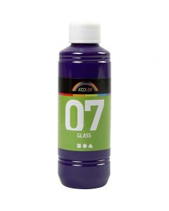 A-Color Glass Paint, red violet, 250 ml/ 1 bottle