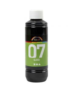 A-Color Glass Paint, black, 250 ml/ 1 bottle