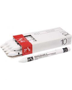 Neocolor II, L: 10 cm, white (001), 10 pc/ 1 pack