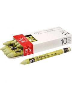 Neocolor II, L: 10 cm, light olive (245), 10 pc/ 1 pack