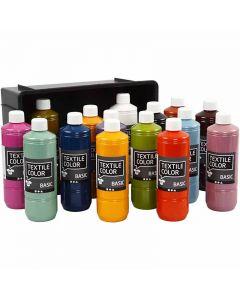 Textile Color Paint, assorted colours, 15x500 ml/ 1 pack