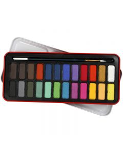 Watercolor Paint Set, size 12x30 mm, assorted colours, 24 colour/ 1 pack