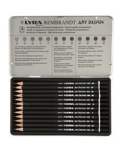 Art Design Drawing Pencils, hardness F, 12 pc/ 1 pack