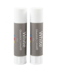 White glue stick, round, 2 pc/ 1 pack, 10 g