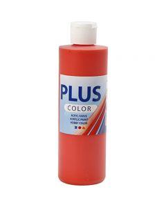 Plus Color Craft Paint, brilliant red, 250 ml/ 1 bottle