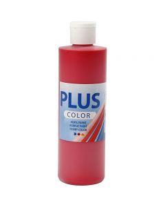 Plus Color Craft Paint, crimson red, 250 ml/ 1 bottle