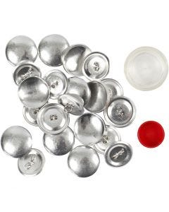 DIY Covered Buttons, D: 22 mm, 12 pc/ 1 pack