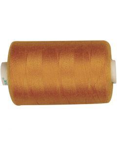 Sewing Thread, L: 1000 yards, golden, 915 m/ 1 roll