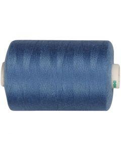 Sewing Thread, L: 1000 yards, mid-blue, 915 m/ 1 roll