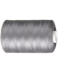 Sewing Thread, L: 1000 yards, grey, 915 m/ 1 roll