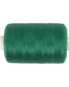 Sewing Thread, L: 1000 yards, green, 915 m/ 1 roll