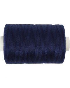 Sewing Thread, L: 1000 yards, navy blue, 915 m/ 1 roll