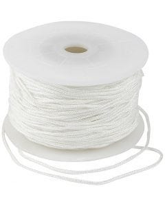 Polyester Cord, thickness 2 mm, white, 50 m/ 1 roll