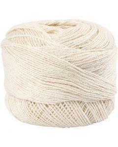 Mercerized Cotton Yarn, off-white, 20 g/ 1 ball