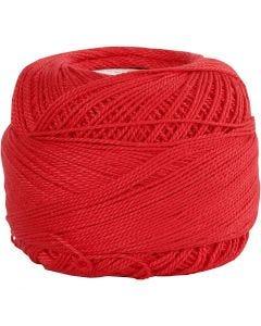 Mercerized Cotton Yarn, red, 20 g/ 1 ball